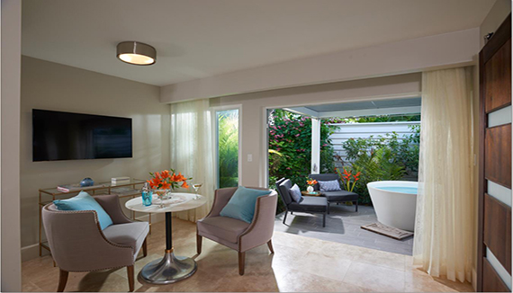 Image showcasing Royal English One Bedroom Walkout Butler Villa Suite w/ Patio Tranquility Soaking Tub (WVS1)