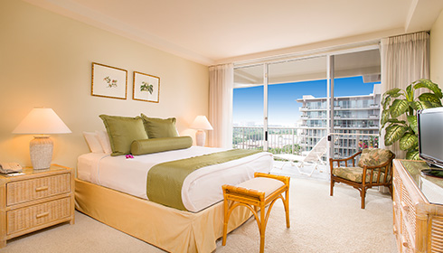 Showing slide 1 of 2 in image gallery showcasing One-Bedroom One-Bath Ocean View Suite