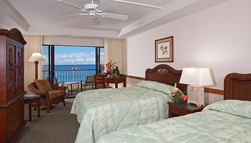 Ocean Front Two Double Beds