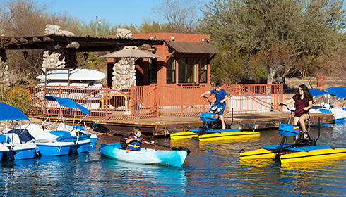 Kayak and water bike rentals