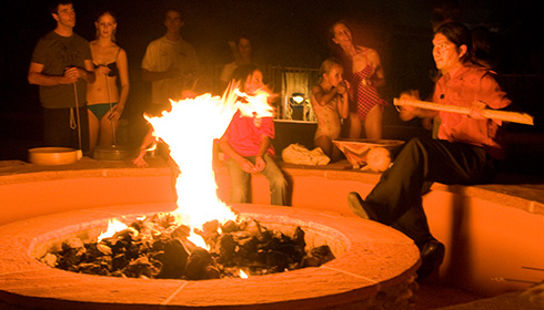 Resort Fire Pit Talk and Marshmallow Roast