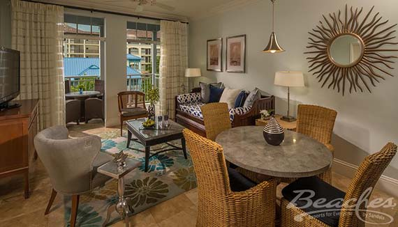 Showing slide 2 of 2 in image gallery showcasing Key West Luxury One bedroom Concierge Suite (1B2)