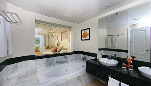 Showing slide 1 of 2 in image gallery, Family Junior Suite bathroom