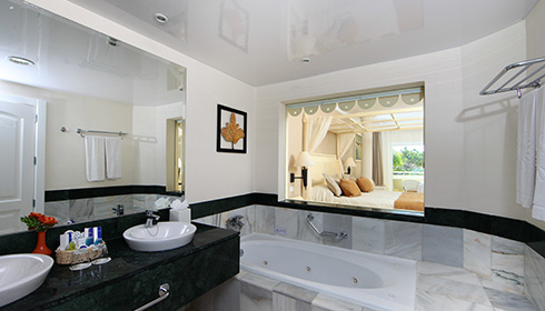 Showing slide 1 of 3 in image gallery, Family Master Suite bathroom