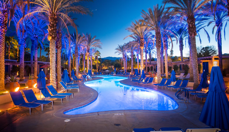 Oasis Pool at night