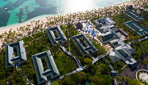 Resort aerial view
