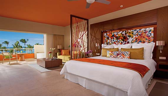 Showing slide 3 of 3 in image gallery, Breathless Punta Cana Resort & Spa Allure Junior Suite Tropical View