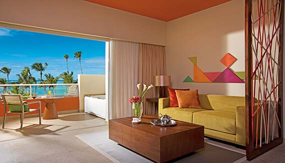 Image showcasing Xhale Club Junior Suite Partial Ocean View