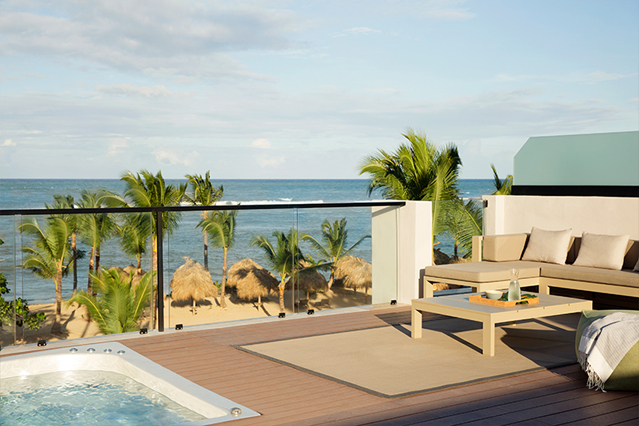 Image showcasing Excellence Club Beachfront Honeymoon 2 Story Rooftop Terrace Suite with Plunge Pool