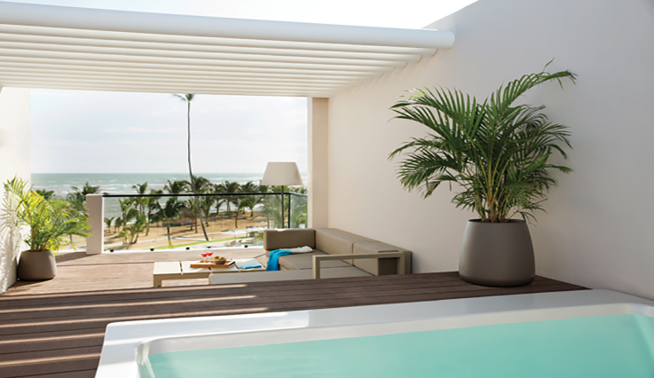 Image showcasing Excellence Club 2 Story Rooftop Terrace Suite with Plunge Pool Ocean View