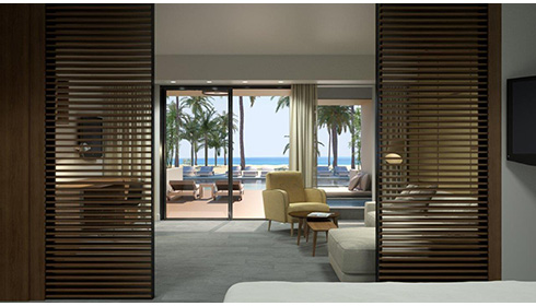 Showing slide 3 of 3 in image gallery, Beachfront Honeymoon Swim-up Suite