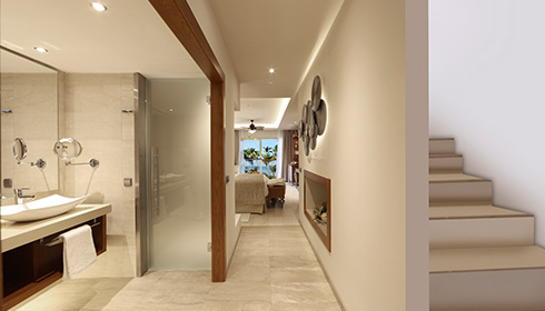 Showing slide 2 of 2 in image gallery, Sky View Suite - Bathroom
