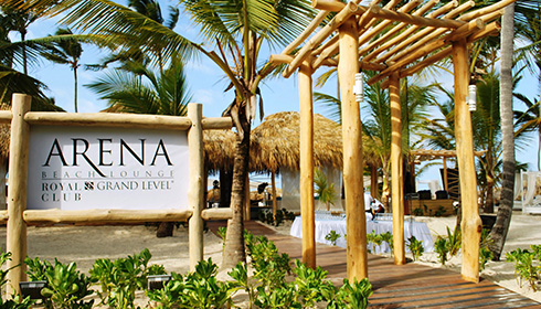 Arena Beach Club entrance