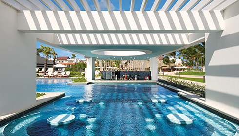Preferred Club adult-only pool swim-up bar