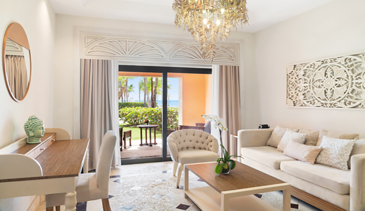 Showing slide 2 of 3 in image gallery showcasing Premium Beachfront Junior Suite