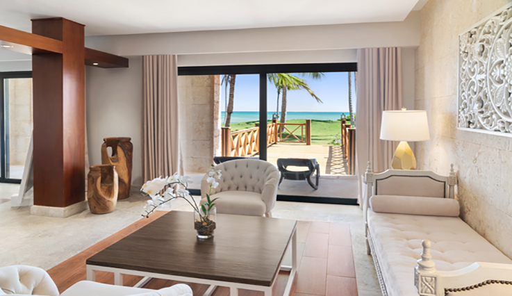 Showing slide 2 of 2 in image gallery showcasing Castle Junior Suite Oceanfront