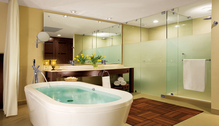 Showing slide 2 of 2 in image gallery, Junior Suite Tropical View - Bathroom