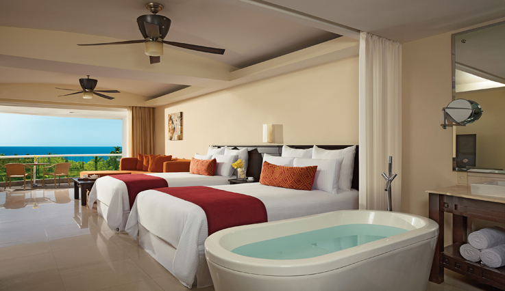 Showing slide 2 of 3 in image gallery, Junior Suite Ocean View with jacuzzi