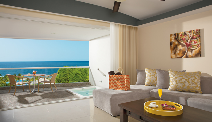 Showing slide 3 of 3 in image gallery, Preferred Club Junior Suite Ocean View with jacuzzi