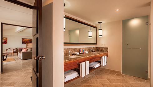 Showing slide 2 of 2 in image gallery, 1 Bedroom suite with plunge pool washroom