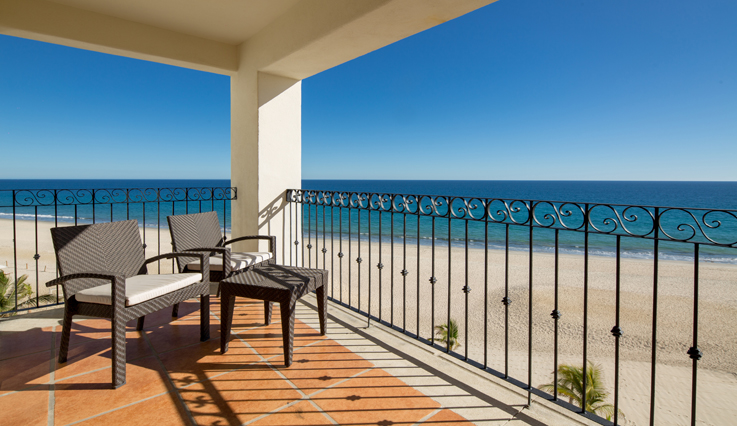 Showing slide 4 of 4 in image gallery, Ocean Front 2 Bedroom Grand Master King Suite - Balcony