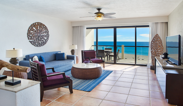 Showing slide 1 of 4 in image gallery, Ocean Front 2 Bedroom Grand Master King Suite - Seating area