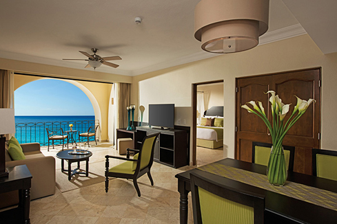 Showing slide 3 of 4 in image gallery showcasing Preferred Club Family Master Two Bedroom Suite Ocean View