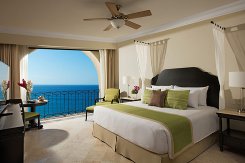 Showing slide 1 of 2 in image gallery showcasing Preferred Club One Bedroom Suite Ocean View