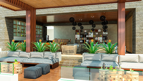 Showing slide 1 of 10 in image gallery, Terrace Ocean Front Bar and lounge