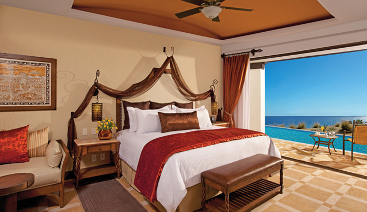 Showing slide 1 of 3 in image gallery showcasing Preferred Club Junior Suite Swimout Ocean view