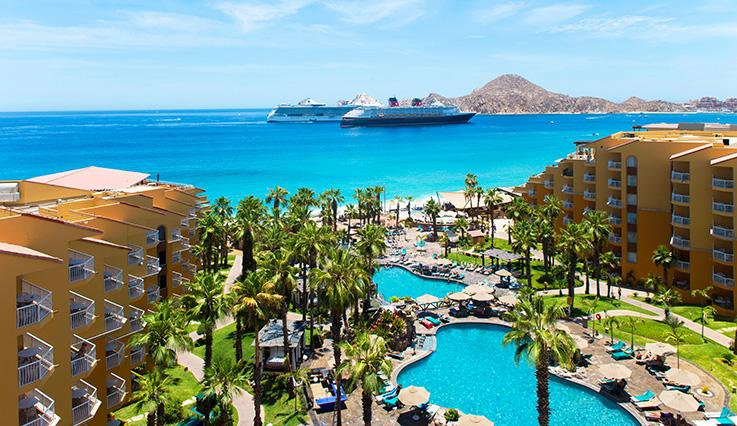 Aerial View Hotel Video Close Showing Villa Del Palmar Beach Resort