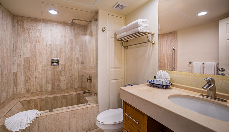 Showing slide 3 of 3 in image gallery, Junior Suite standard Bathroom