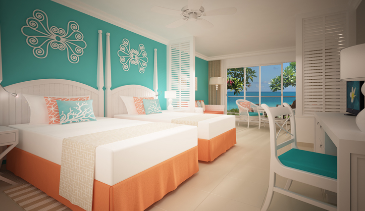 Showing slide 2 of 2 in image gallery showcasing Cabana Junior Suite Ocean View