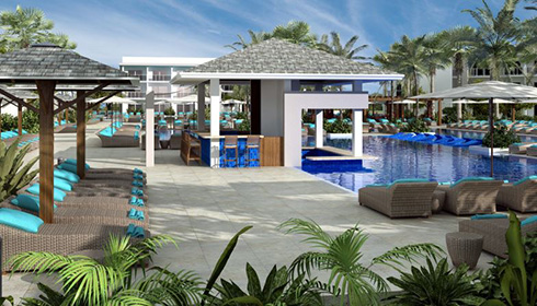 Swim-up bar artist rendering