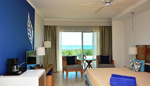 Showing slide 1 of 2 in image gallery, Deluxe oceanview king bed