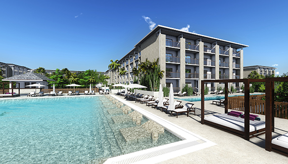 Showing Paradisus Los Cayos Feature Image Pool Artist Rendering