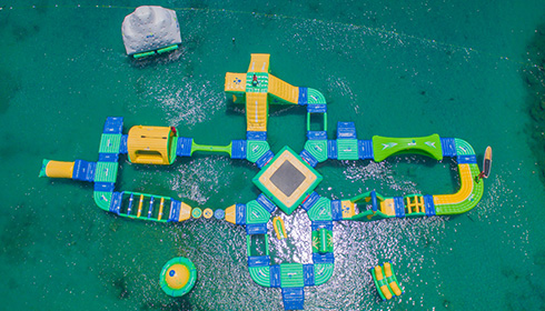 Splash water park overhead view