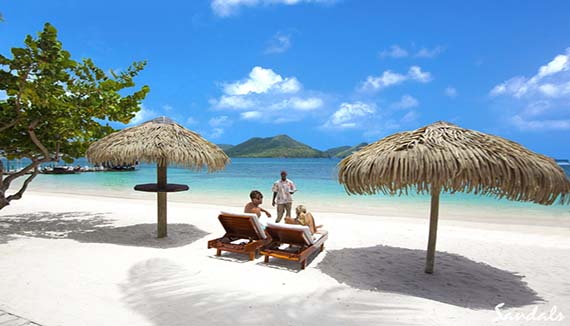 Showing slide 3 of 19 in image gallery for Sandals Grande St Lucian Spa and Beach Resort