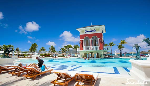 Showing slide 6 of 19 in image gallery for Sandals Grande St Lucian Spa and Beach Resort