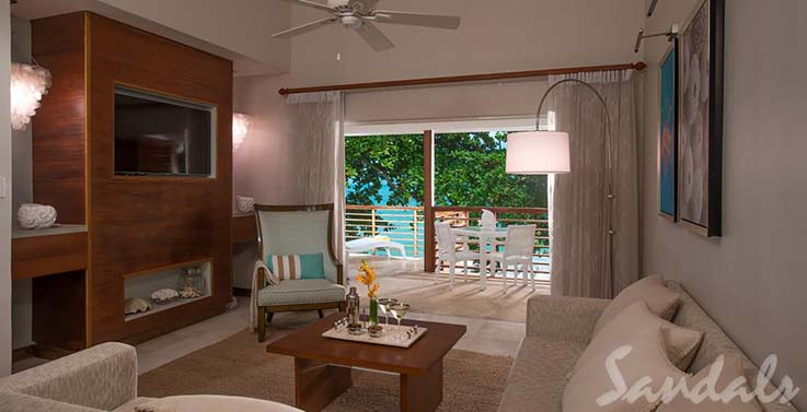 Image showcasing Oceanfront Two-Story One Bedroom Butler Villa Suite w/ Balcony Tranquility Soaking Tub (BW)