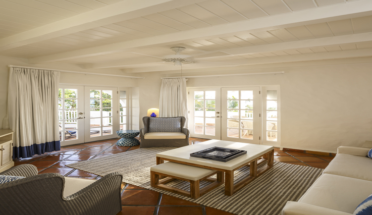 Showing slide 2 of 3 in image gallery, Premium Two Bedroom Ocean View Villa - living area