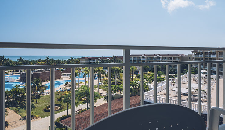 Showing slide 2 of 2 in image gallery showcasing Double Pool View Room