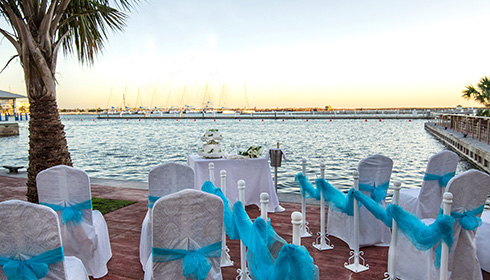 Wedding on the pier