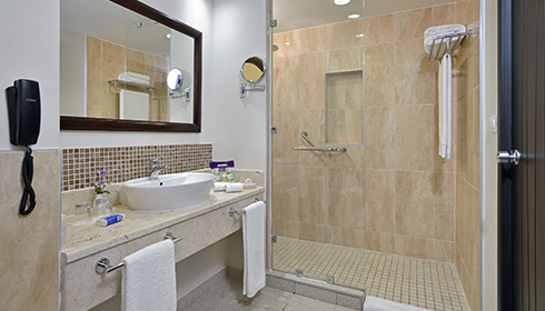 Showing slide 1 of 2 in image gallery, Junior suite royal service bathroom