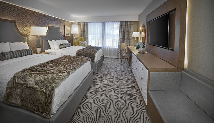 Showing slide 2 of 4 in image gallery, Deluxe Room - 2 queen beds