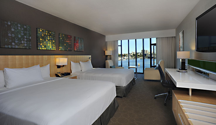 Showing slide 2 of 2 in image gallery, Deluxe Water View Room - 2 queen beds