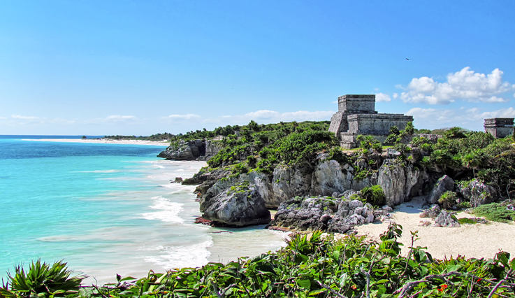 Coastline at Tulum ruins