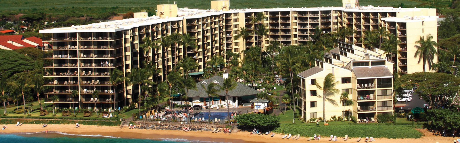 Aerial view of Aston Kaanapali Shores condo