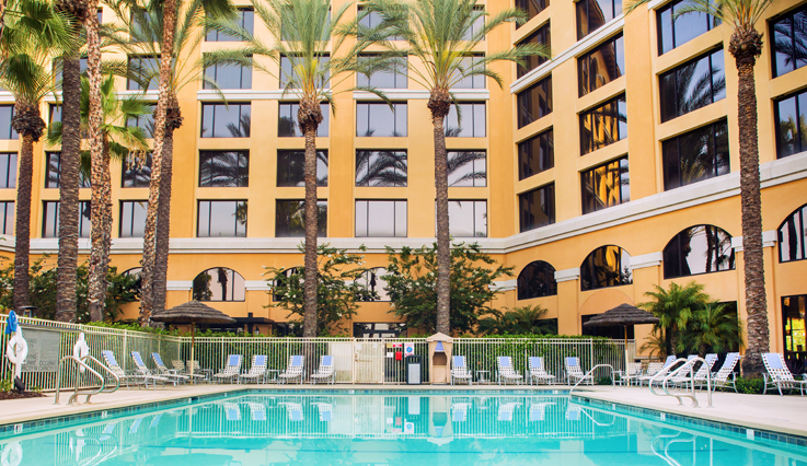 Pool view of Marriott Anaheim Garden Grove