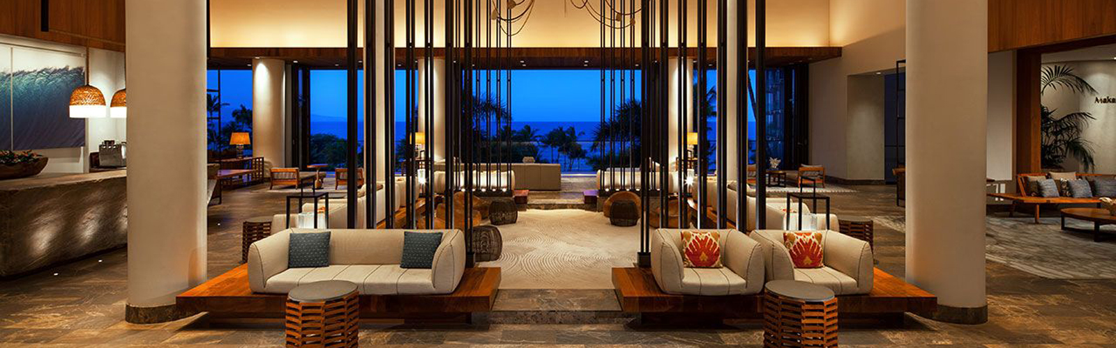 Andaz lobby overlooking the ocean